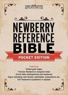KJV Newberry Reference Bible Pocket Edition Genuine Leather