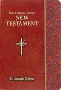New Catholic Version St. Joseph New Testament Vest Pocket Burgundy