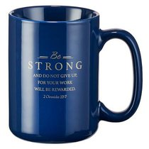 Ceramic Mug: Faithful Servant (Navy/brown)