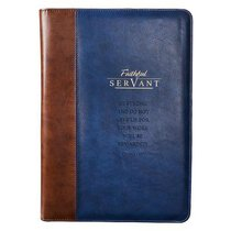 Premium Portfolio: Faithful Servant (Navy/brown)