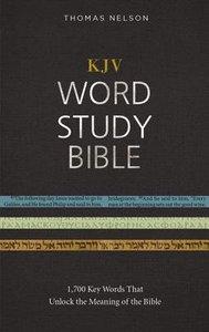 KJV Word Study Bible Hardcover