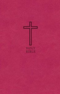 KJV Value Thinline Bible Compact Pink Red Letter Edition
