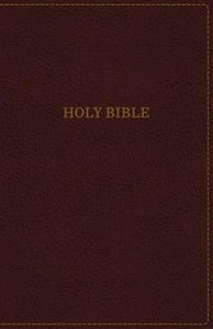 KJV Thinline Bible Large Print Burgundy (Red Letter Edition)