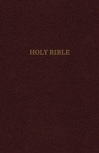KJV Reference Bible Personal Size Giant Print Burgundy (Red Letter Edition)