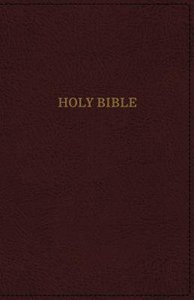 KJV Deluxe Reference Bible Super Giant Print Burgundy (Red Letter Edition)