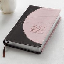 KJV Gift and Award Bible Pink Brown Red Letter Edition