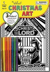 Velvet Christmas Art Poster Set (Incl Pencils)