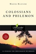 Colossians and Philemon (Lifeguide Bible Study Series) Paperback