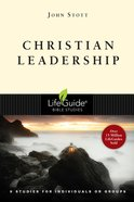 Christian Leadership (Lifeguide Bible Study Series) Paperback