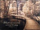 Mounted Print: Take My Lead I (Psalm 37:34)