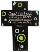 Joy Blossoms Small Cross: Trust Black/Blue/Yellow/White (Proverbs 3:5)