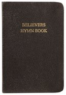 Believers Hymn Book, Black (Words Only) Genuine Leather