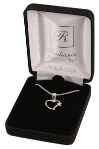 Necklace: Sterling Silver Open Heart With Cross on 45Cm Sterling Silver Chain