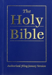 KJV Royal Ruby Holy Bible Compact Blue (Black Letter Edition)