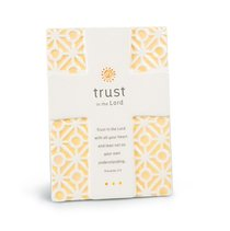 Cross Ceramic Statements: Trust in the Lord Orange/White (Proverbs 3:5)