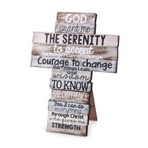 Stacked Wood Cross: Serenity, Small (Phil 4:13)