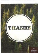 Note Cards Thank You: Forestry (Psalm 73:1 NIV) (Green)