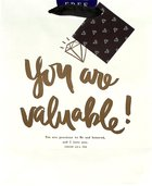 Gift Bag Medium: You Are Valuable (Incl Two Sheets Tissue Paper & Gift Tag, Gold Foil) (Sadie Robertson Gift Products Series) Stationery