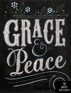 Blank Note Cards: Grace & Peace Chalk (1 Thess 1:1 Nlt)