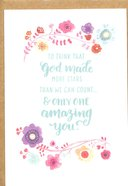 Greeting Card Pack: Amazing You, Bright Floral, Scripture Inside Cover James 1:17 ((In)courage Gift Product Series)