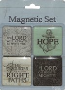 Magnetic Set of 4 Magnets: Travel Range Novelty