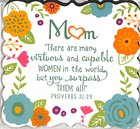 Magnet Flowers For You: Mum, Gladness Floral Pattern (Prov 31:29) Novelty