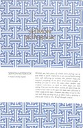Sermon Notebook: 6 Month Weekly Layout (Blue Design) Paperback