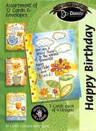 Boxed Cards Happy Birthday: Flowerpots Box
