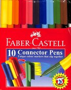 Faber-Castell Connector Pens Markers Wallet of 10 Stationery