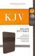 KJV Deluxe Gift Bible Gray (Red Letter Edition)