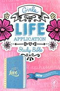 NLT Girls Life Application Study Bible Teal/Yellow (Black Letter Edition) Imitation Leather