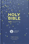 NIV Larger Print Compact Single Column Reference Bible Hardback