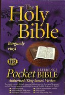 KJV Pocket Reference Bible Burgundy (Black Letter Edition) Paperback