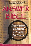 KJV Thompson Answer Bible Black Discovering Treasures of Truth For Youth (Black Letter Edition) Hardback