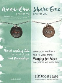 Necklace Wear-One-Share-One: Hope, Hebrews 6:19 ((In)courage Gift Product Series)