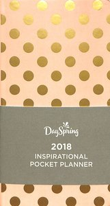 2018 Premium Pocket Weekly Planner: Gold Dots