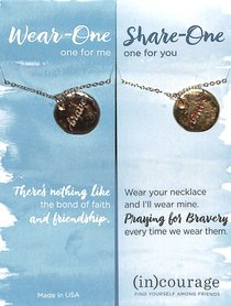 Necklace Wear-One-Share-One: Brave, 1 John 3:16 ((In)courage Gift Product Series)