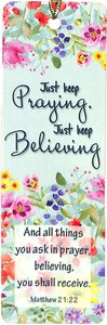 Tassel Bookmark: Just Keep Praying