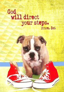 Notepad: God Will Direct Your Steps (Dog With Shoes)