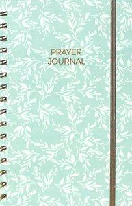 Prayer Journal: One Year Weekly Layout (Aqua Leaf)