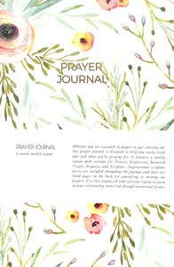 Prayer Journal:6 Month Weekly Layout (Pink/ Aqua Floral)