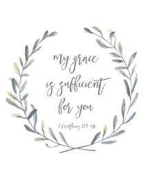 Poster Small: My Grace is Sufficient For You (2 Corinthians 12:9)