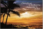 Mounted Print: Palm Sunrise, Psalm 90:14 Plaque