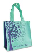 Eco Totes: Tree of Life, Teal With Purple Sides