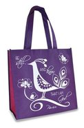 Eco Totes: Be Still, Purple With Hot Pink Sides Soft Goods
