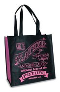 Eco Totes: Proverbs 31 Woman, Black With Pink Sides Soft Goods