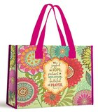 Tote Bag: Be Joyful in Hope... (With Pink Handles)