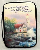 Bible Cover Thomas Kinkade Xlarge Beacon of Hope Lighthouse Navy Bible Cover