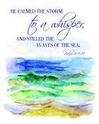Medium Framed Print: Ocean Waves - He Calmed the Storm to a Whisper Psalm 107:29 Plaque
