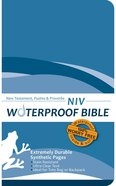 NIV Waterproof Bible New Testament Psalms and Proverbs Blue Wave (Black Letter Edition)